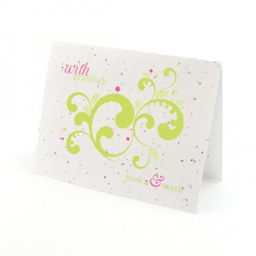Flourish Plantable Thank You Card