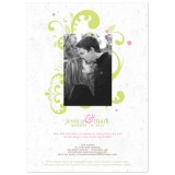 Flourish Plantable Wedding Invitation