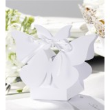 Butterfly Favour Boxes - White - Pack of 10