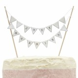 Just Married Cake Bunting Topper - Vintage Lace