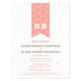 Monogram Plantable Save the Date Card