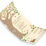 Rustic Tree Seal and Send Invitation