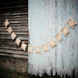 Vintage Just Married Bunting